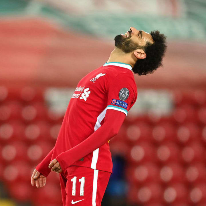 Mohamed Salah had some great opportunities on the night