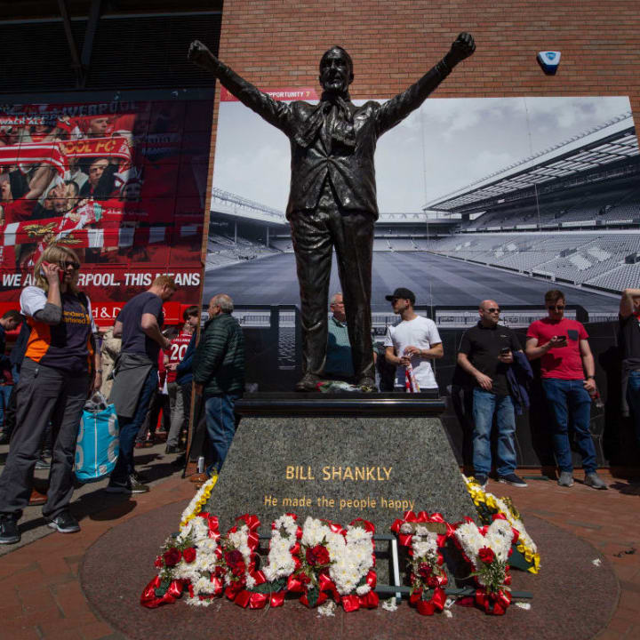 Bill Shankly's statue outside Anfield