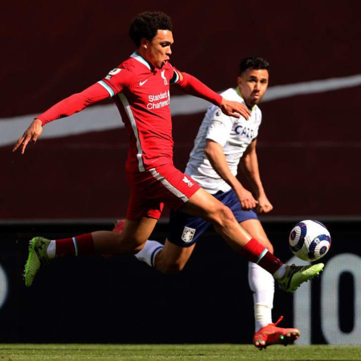 Trent Alexander-Arnold scored the winner against Aston Villa
