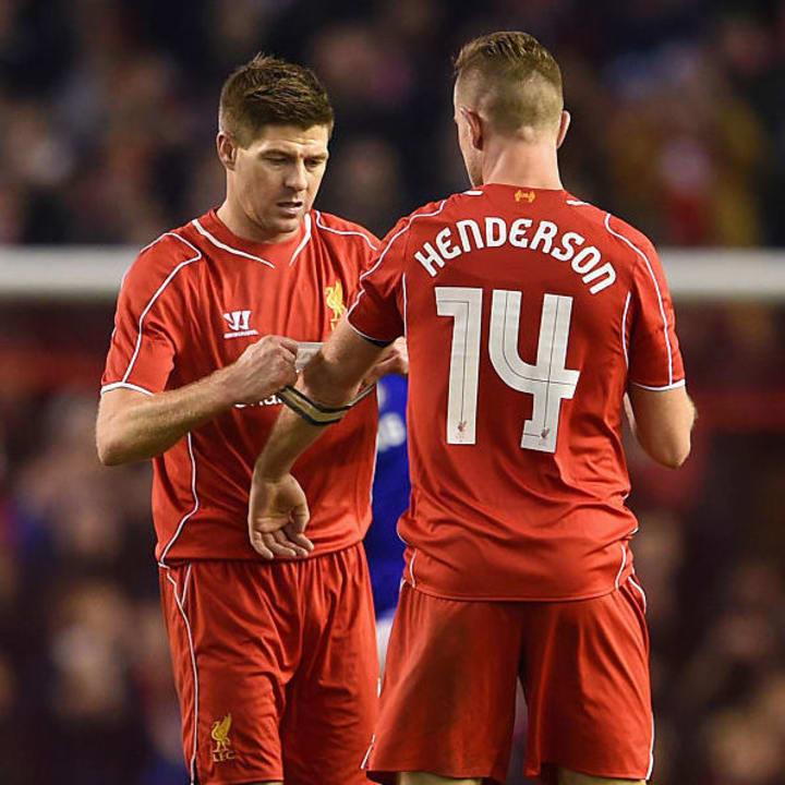 Jordan Henderson, Steven Gerrard
