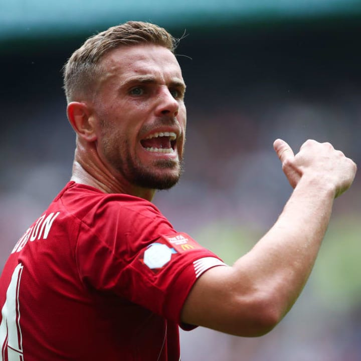 Henderson during the 2019 Community Shield