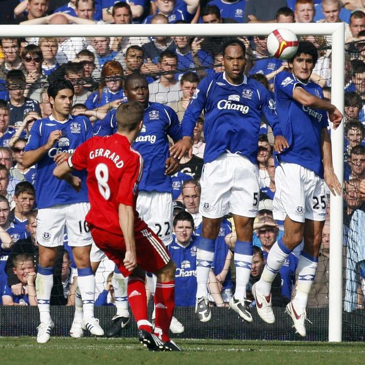 Steven Gerrard free-kick