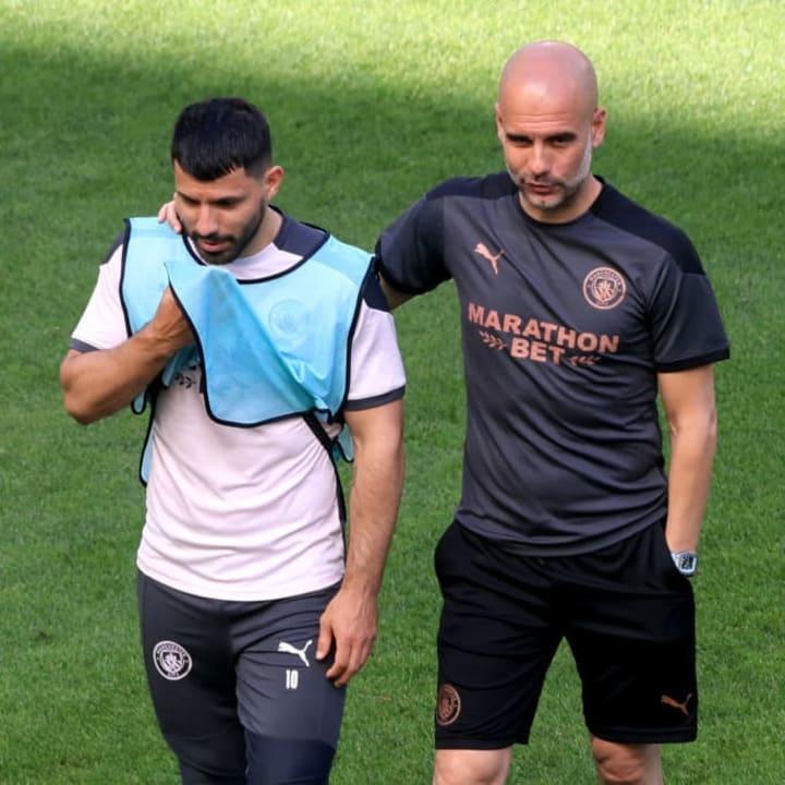 Pep Guardiola, Sergio Aguero