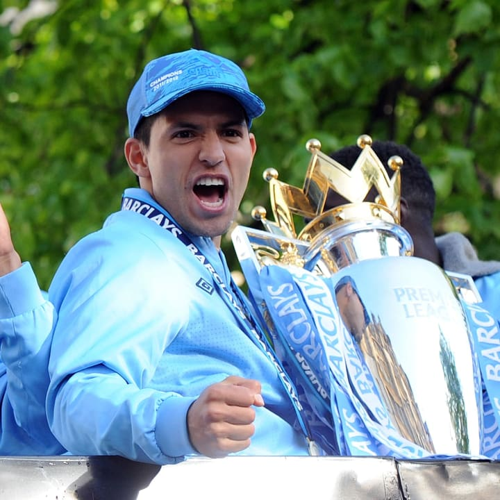 Sergio Aguero sealed Man City's Premier League title in 2011/12