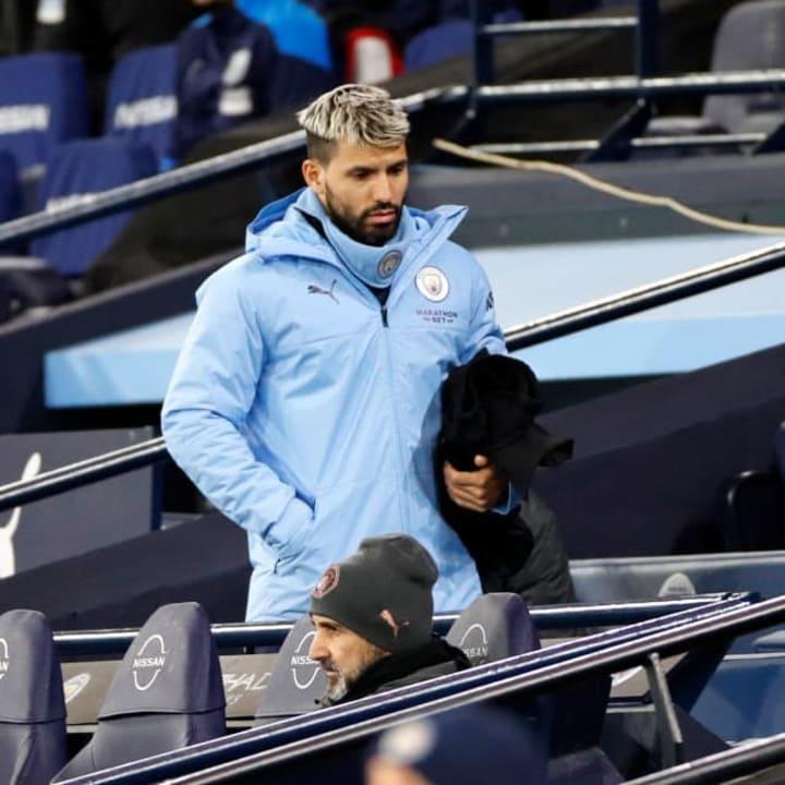 Aguero has endured an injury-ravaged start to the season