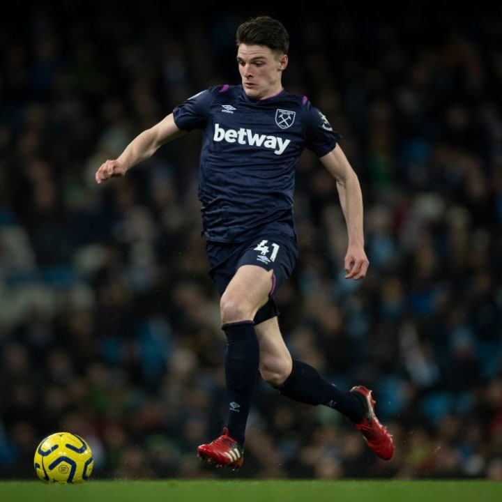 Rice has been converted to a midfielder in the last few years