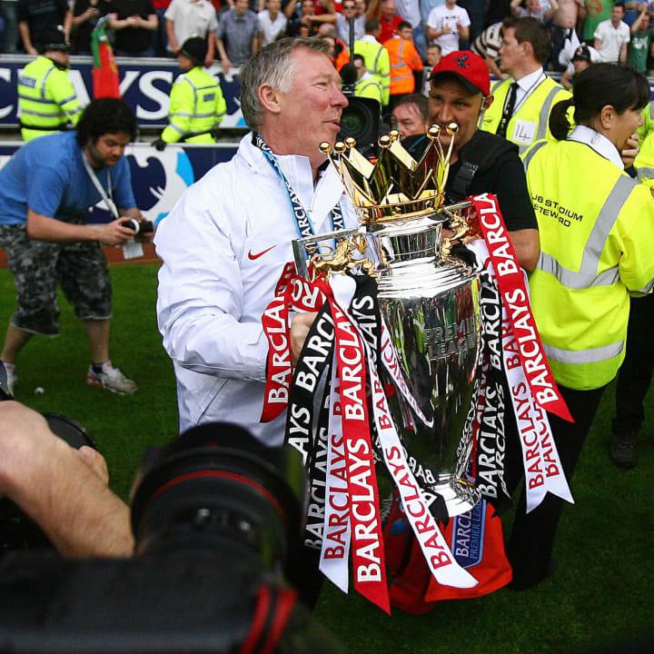 Manchester United manager Sir Alex Fergu