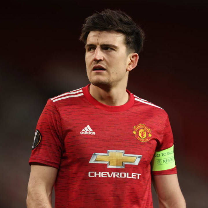 Harry Maguire once again started at the heart of the Manchester United defence