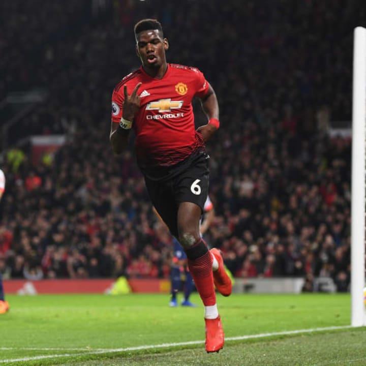 Paul Pogba was Man Utd's top scorer in 2018/19