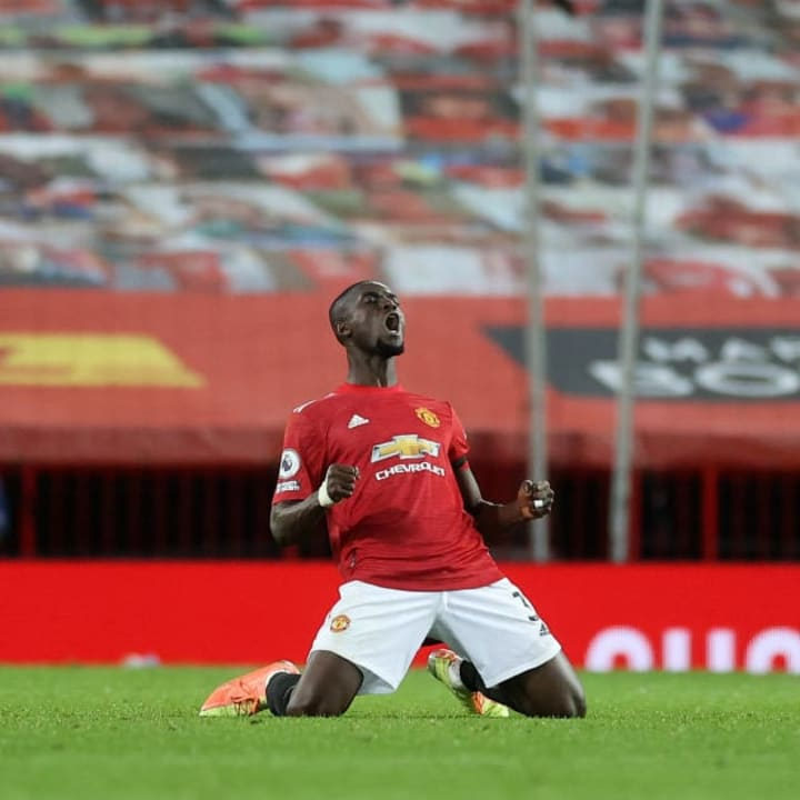 Bailly celebrates following United's weekend victory