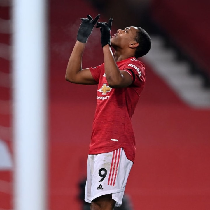 Martial was among the goals against Aston Villa on Friday