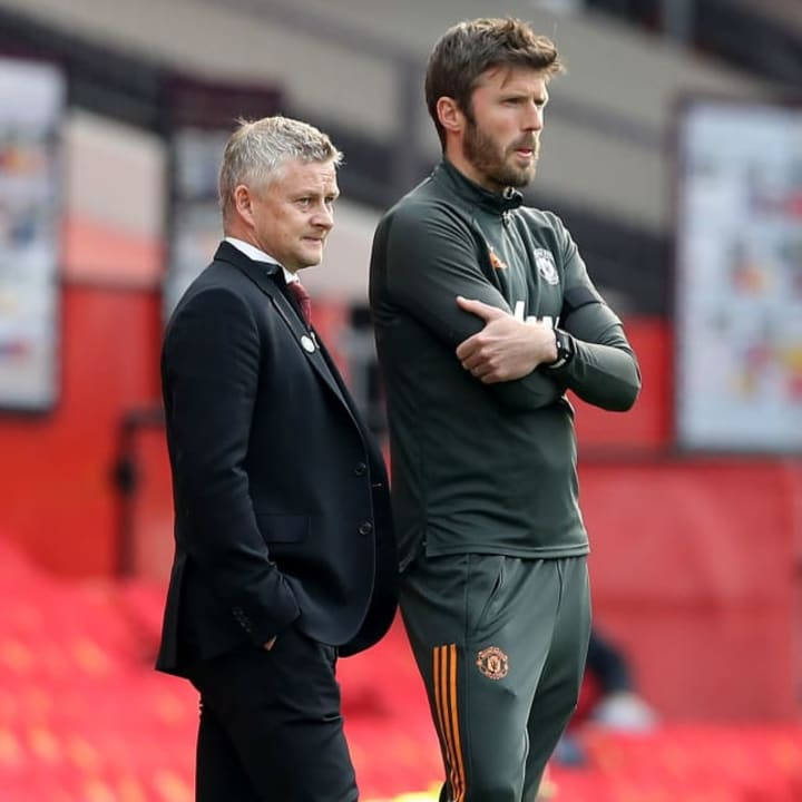 Solskjaer kept Michael Carrick on the coaching staff and brought other trusted names back to the club