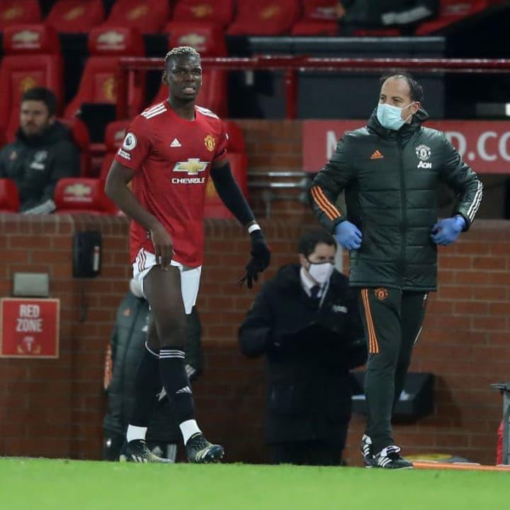 Paul Pogba is still nursing a thigh injury