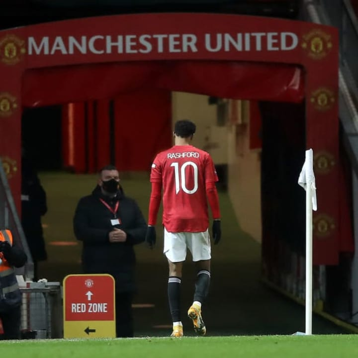 Rashford's performance was soured by an injury scare