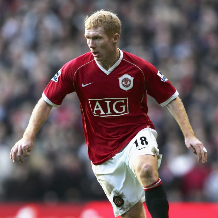 Paul Scholes dominated United's midfield for many years