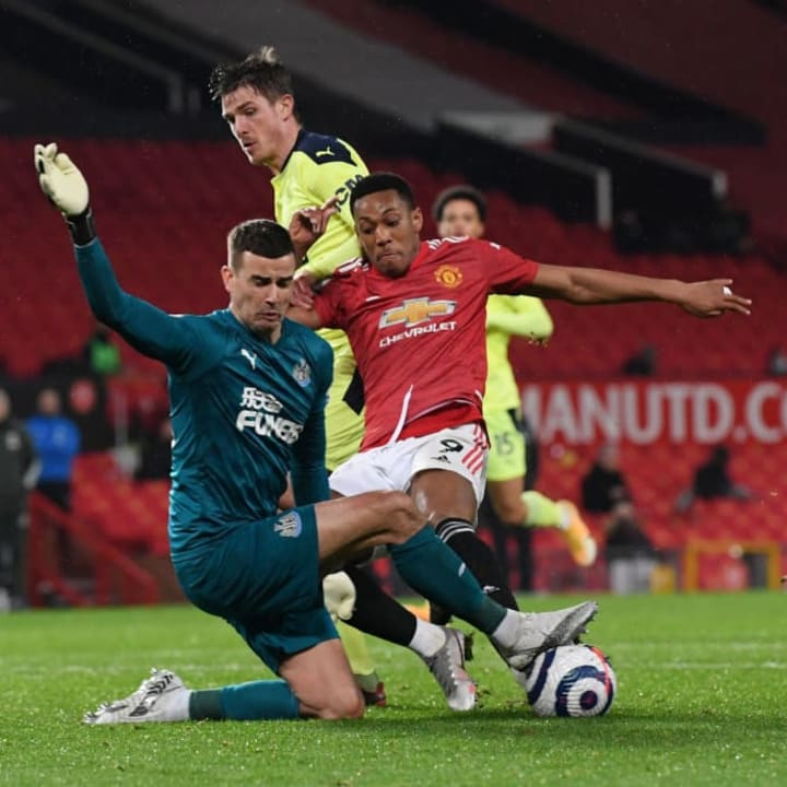 Anthony Martial is looking lost at United