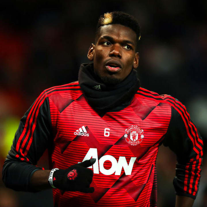 Pogba hasn't played since December because of injury
