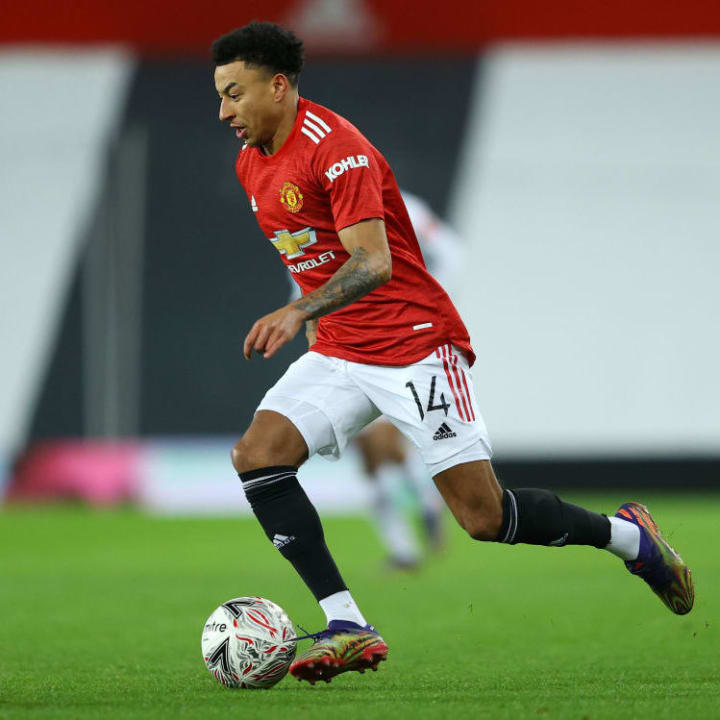 Lingard has only appeared in domestic cups