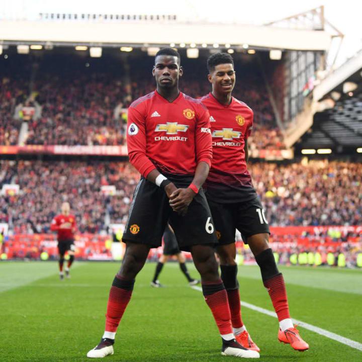 Paul Pogba and Marcus Rashford - Manchester United