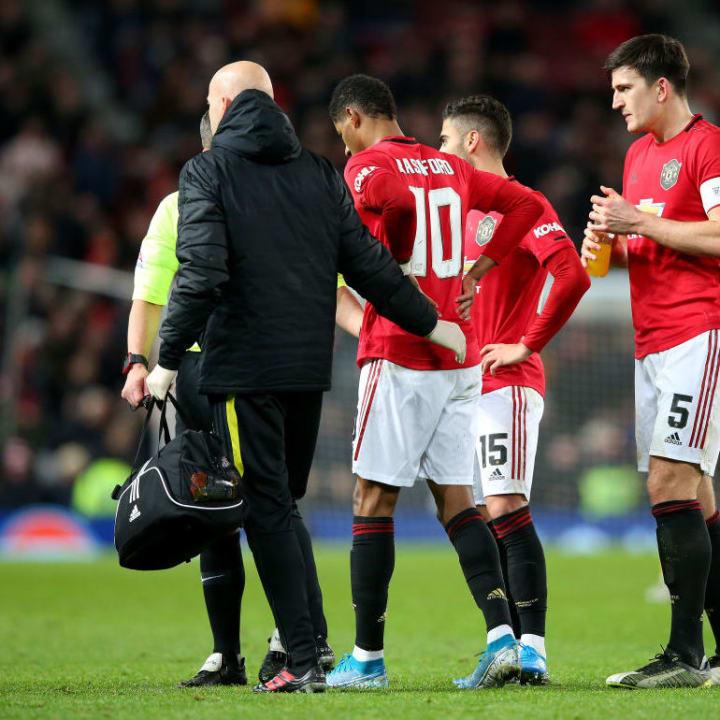 Rashford got injured during an FA Cup tie in January