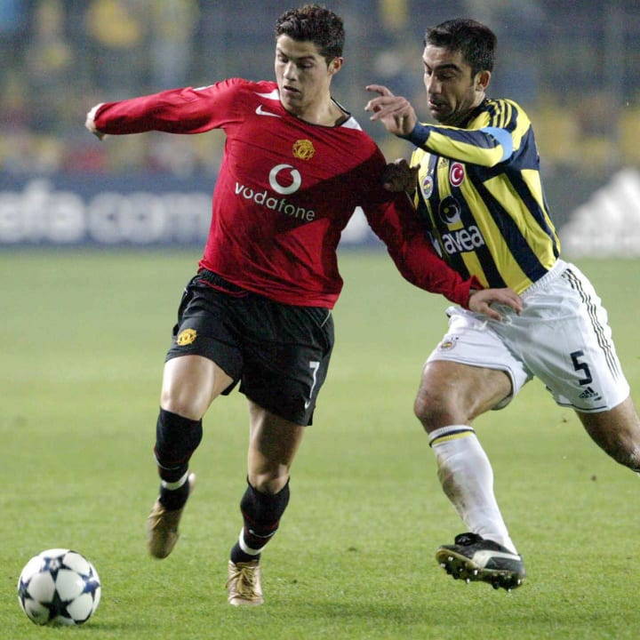 Cristiano Ronaldo came up short against Fenerbahce in 2004