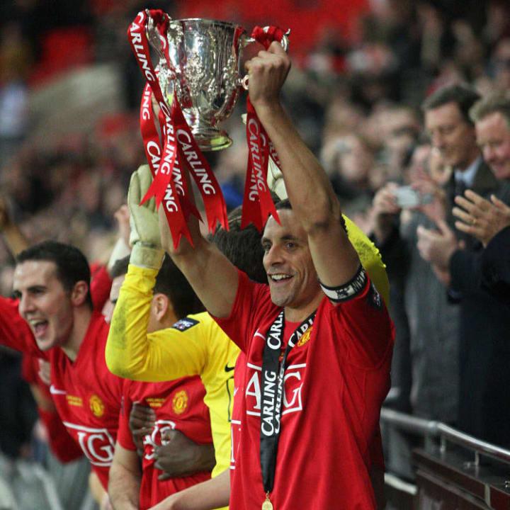 Manchester United's captain Rio Ferdinan