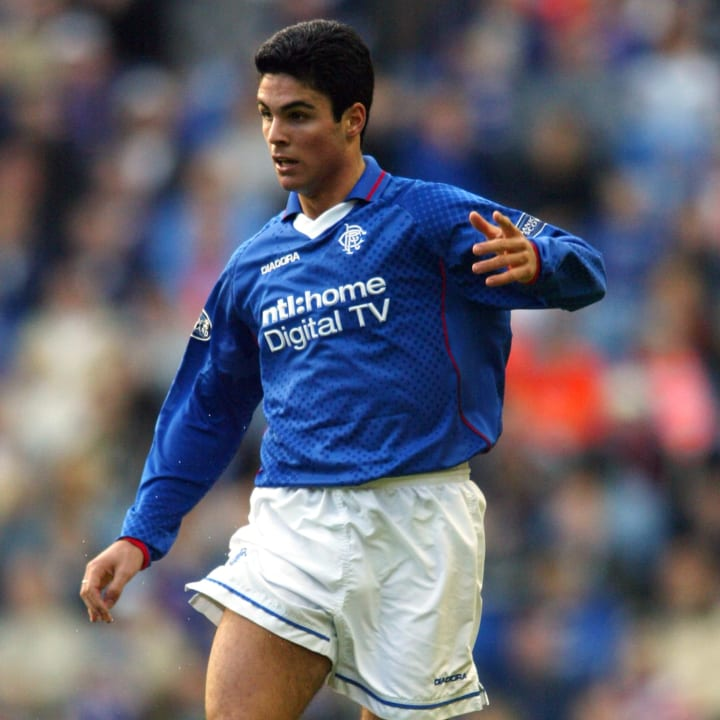 Arteta also played for Rangers early in his career