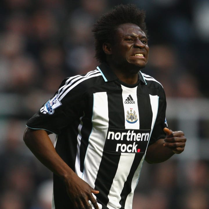 Obafemi Martins left Newcastle for Wolfsburg with the club in the Championship