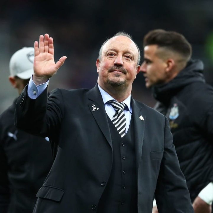 Rafael Benítez previously managed Premier League sides Newcastle, Chelsea and Liverpool