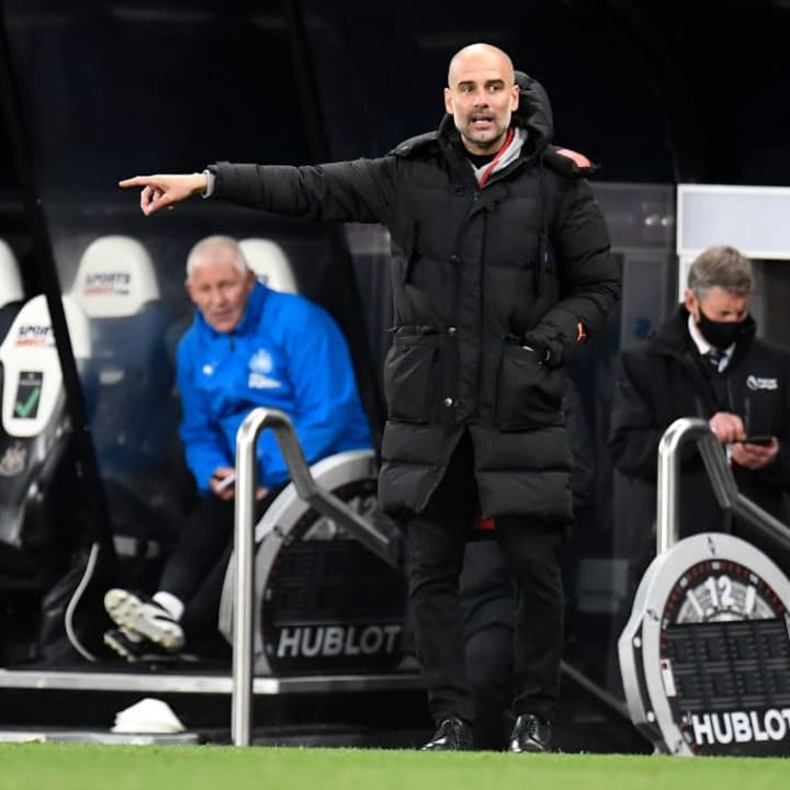 Pep Guardiola says he may not be a striker this summer