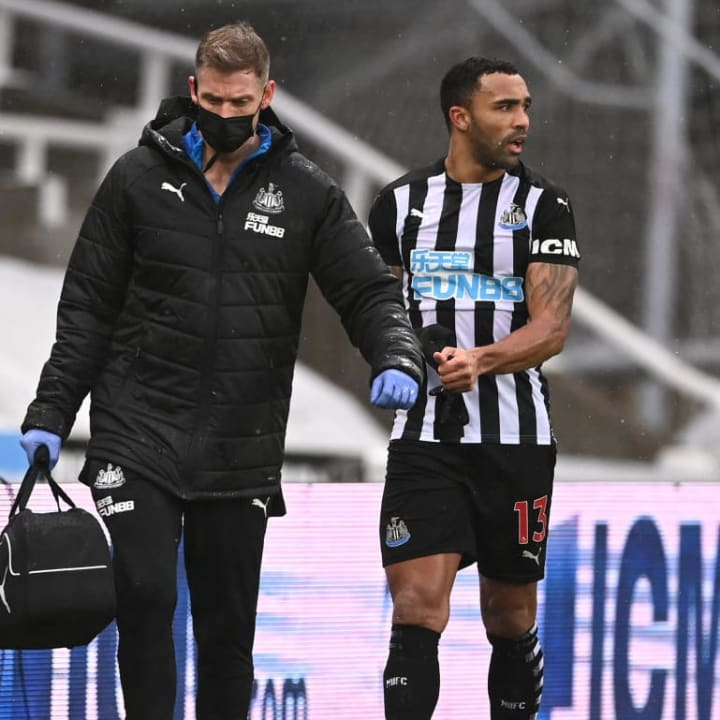 Newcastle miss the injured Callum Wilson