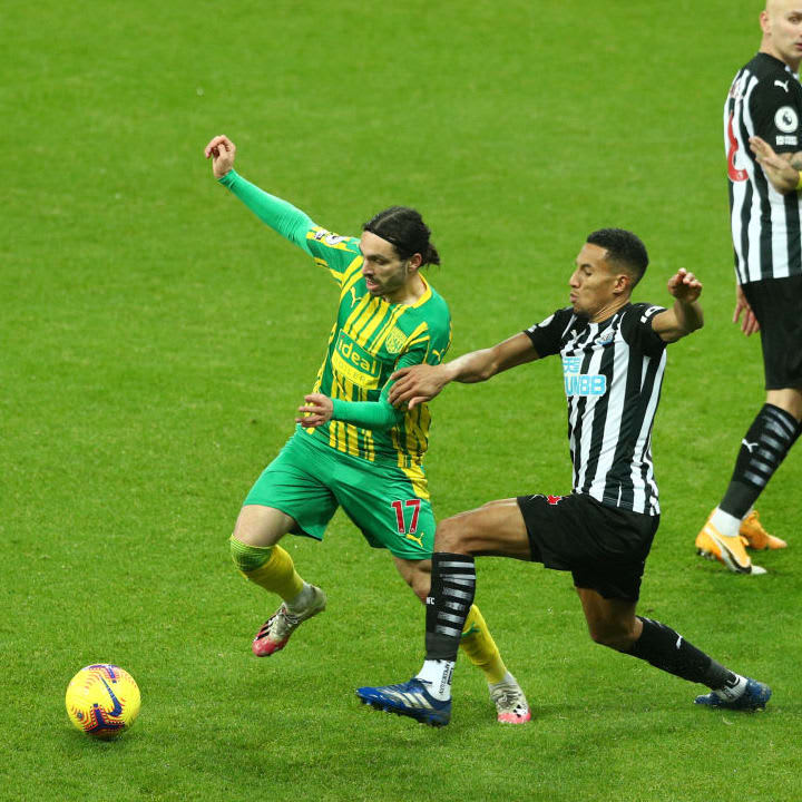Isaac Hayden looked comfortable leading the defence for Newcastle