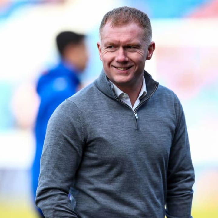 Scholes was briefly Oldham manager in 2019