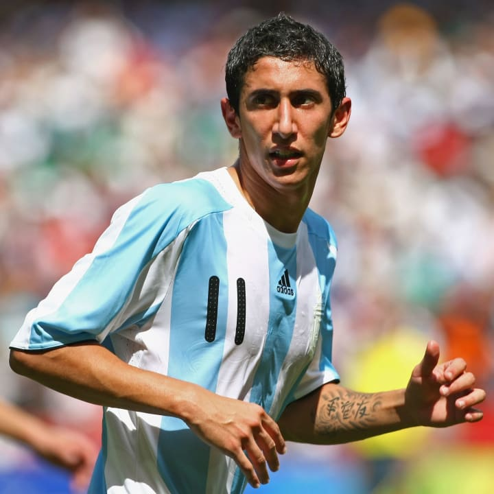 Angel Di Maria was a Benfica player in 2008