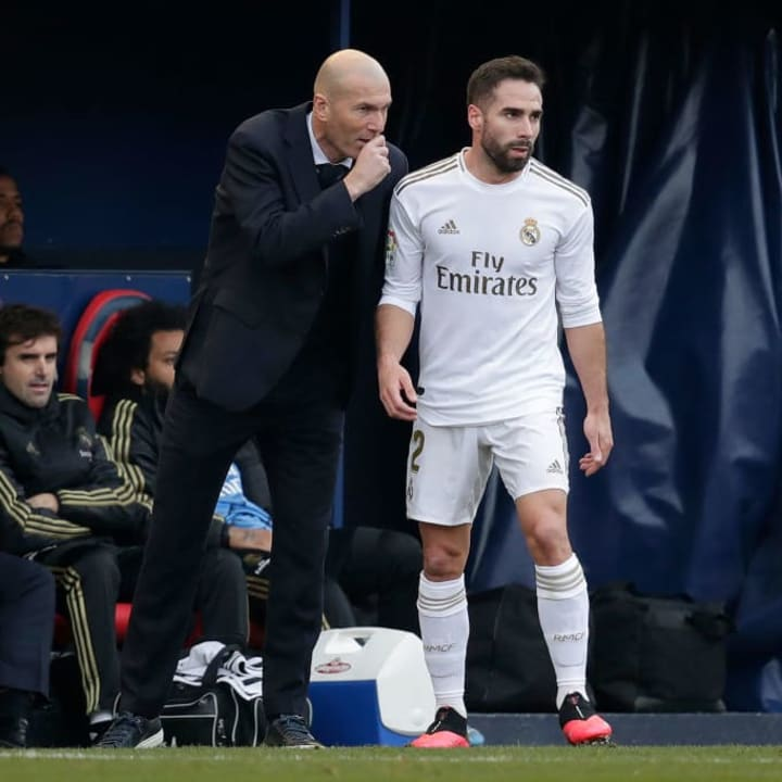 Zidane has stood by Carvajal as his first choice right back