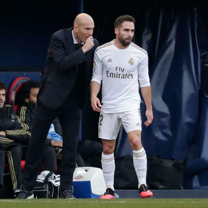 Dani Carvajal, Zinedine Zidane