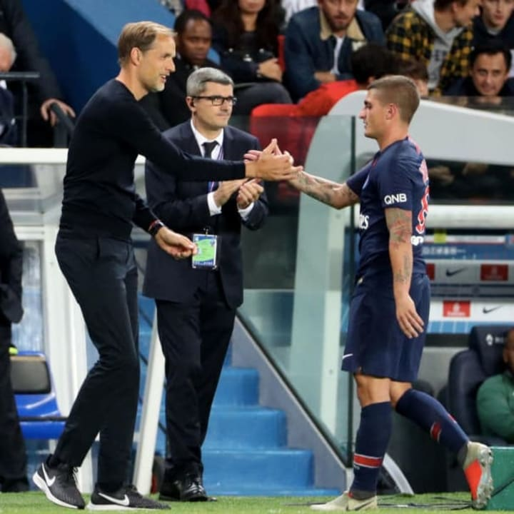 Tuchel previously coached Verratti at PSG