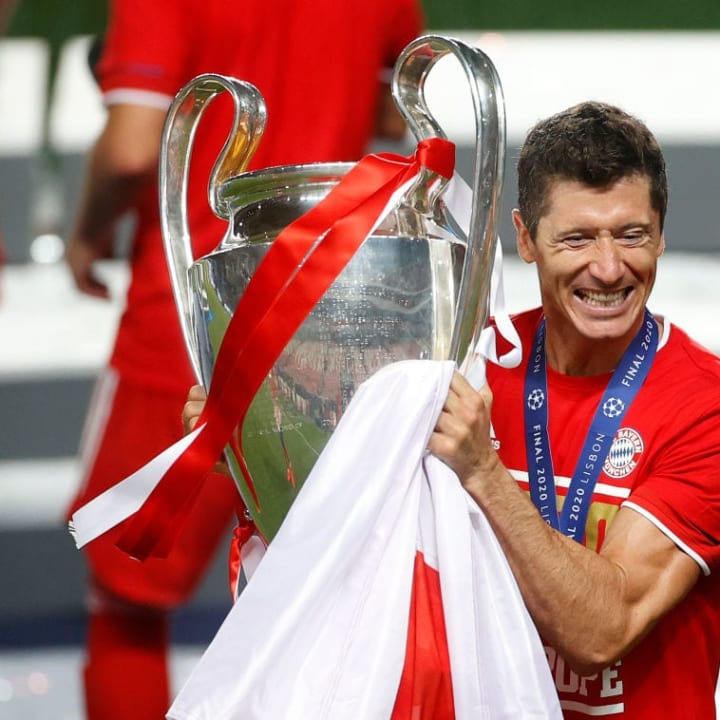 Robert Lewandowski helped Bayern to win four trophies this year.