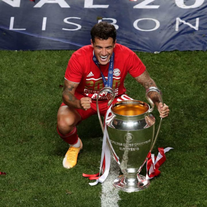 Coutinho won the Champions League with Bayern