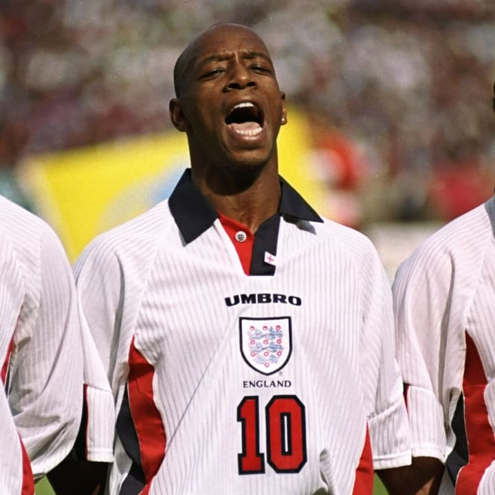 Ian Wright's England career spanned from 1991 to 1998