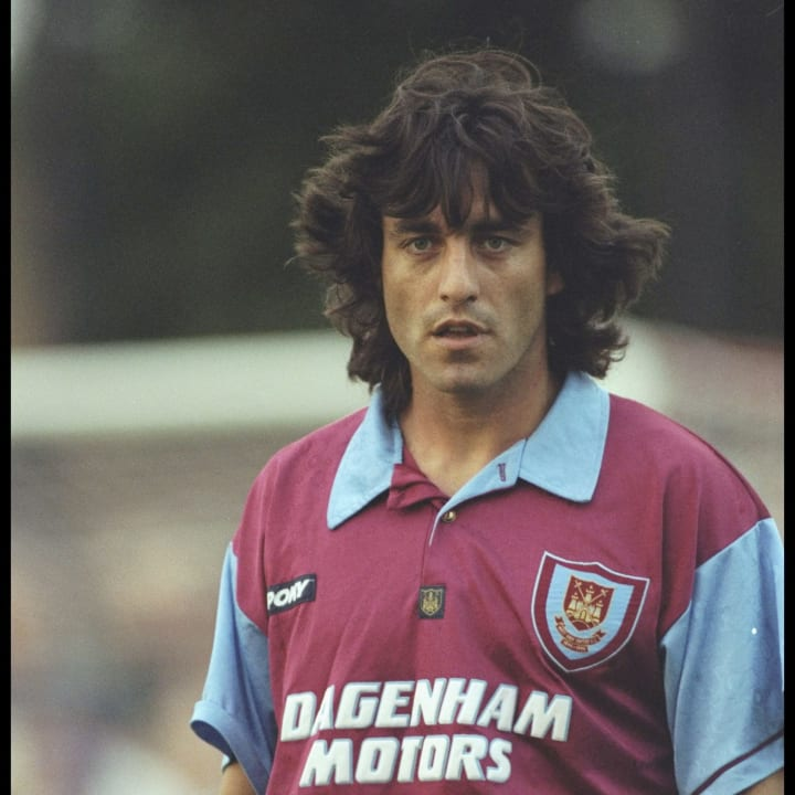 Paulo Futre of West Ham in action during a pre-season friendly