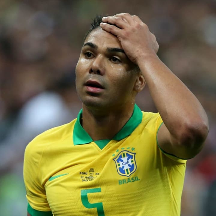 Casemiro is clearly unhappy at the decision