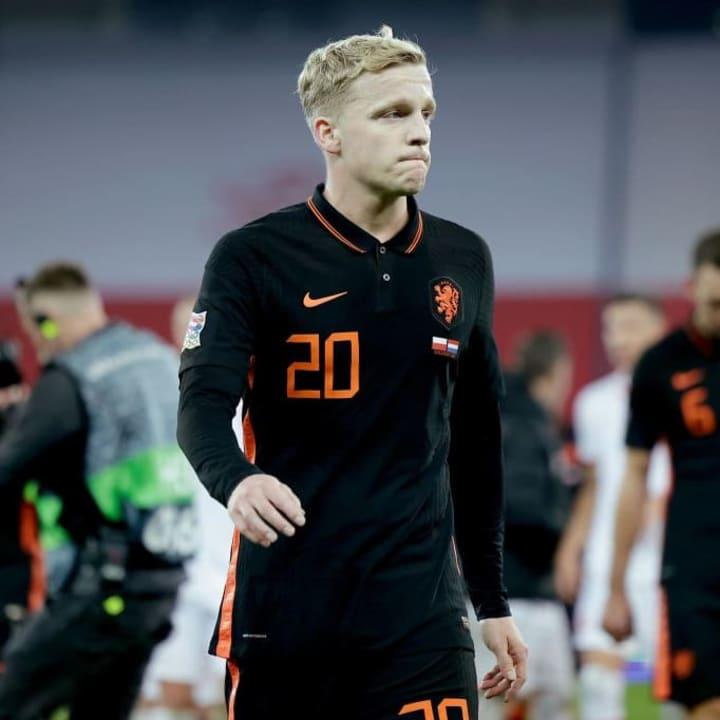 Donny van de Beek struggled in his first season with Man Utd