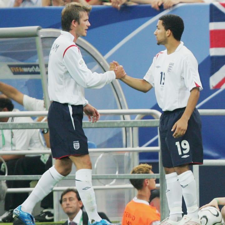 David Beckham, Aaron Lennon