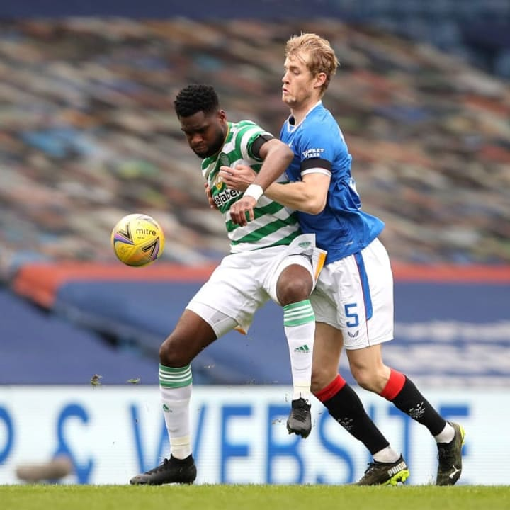 Odsonne Edouard in action in the Old Firm derby