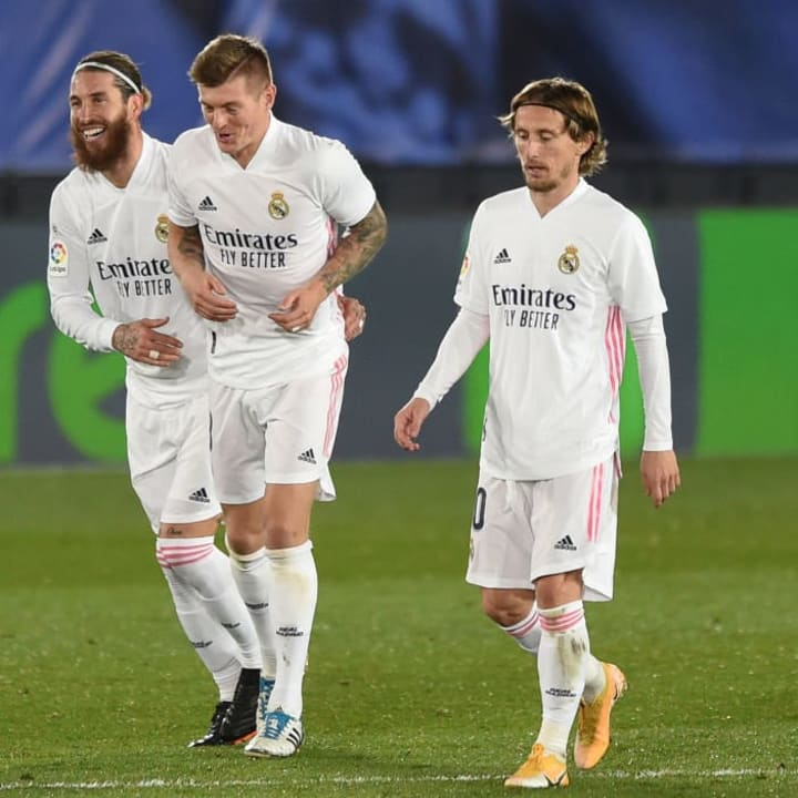 Toni Kroos, Sergio Ramos, Luka Modric