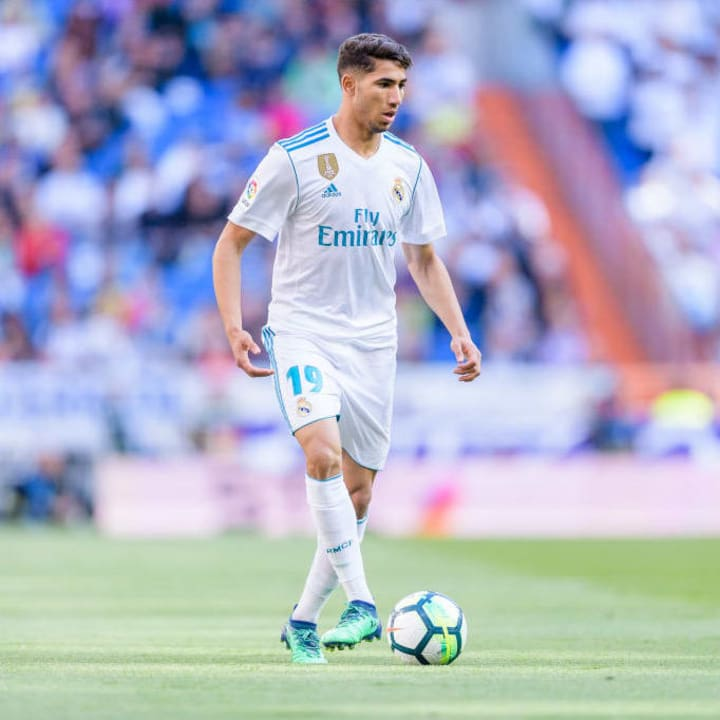 Hakimi played everywhere in Real's academy