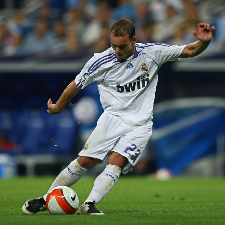 Real Madrid's Dutch player Wesley Sneijd