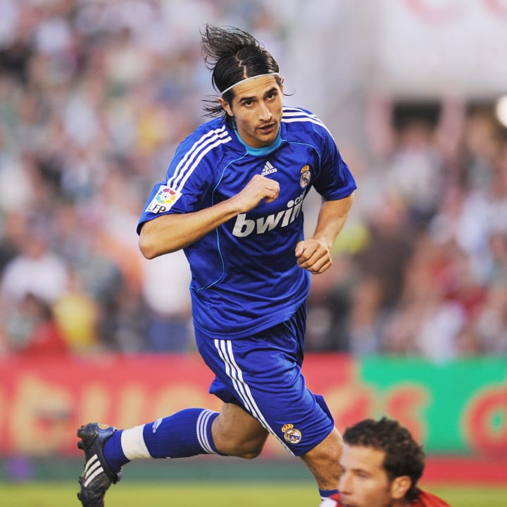 Real Madrid's Ruben de la Red celebrates