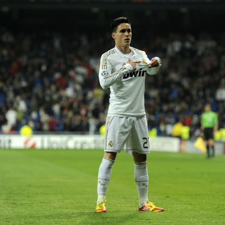 Real Madrid's forward Jose Callejon cele